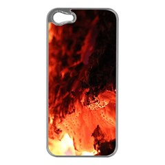 Fire Log Heat Texture Apple Iphone 5 Case (silver)