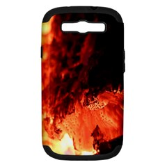 Fire Log Heat Texture Samsung Galaxy S Iii Hardshell Case (pc+silicone)