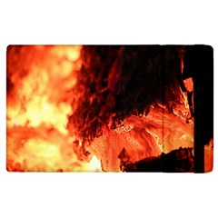 Fire Log Heat Texture Apple Ipad 2 Flip Case
