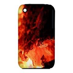 Fire Log Heat Texture Iphone 3s/3gs