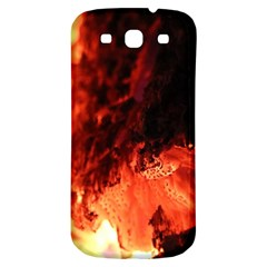 Fire Log Heat Texture Samsung Galaxy S3 S Iii Classic Hardshell Back Case