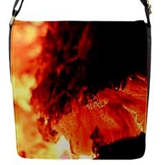 Fire Log Heat Texture Flap Messenger Bag (s)
