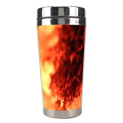 Fire Log Heat Texture Stainless Steel Travel Tumblers