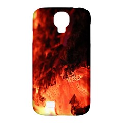 Fire Log Heat Texture Samsung Galaxy S4 Classic Hardshell Case (pc+silicone)
