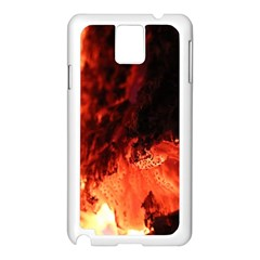 Fire Log Heat Texture Samsung Galaxy Note 3 N9005 Case (white)