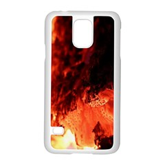 Fire Log Heat Texture Samsung Galaxy S5 Case (white)