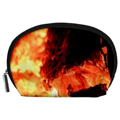Fire Log Heat Texture Accessory Pouches (large)