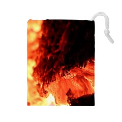 Fire Log Heat Texture Drawstring Pouches (large)