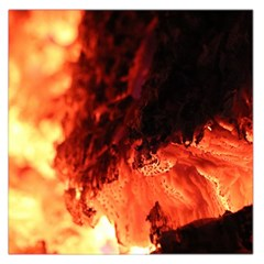 Fire Log Heat Texture Large Satin Scarf (square)