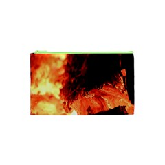 Fire Log Heat Texture Cosmetic Bag (xs)