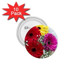 Flowers Gerbera Floral Spring 1.75  Buttons (10 pack)