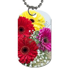 Flowers Gerbera Floral Spring Dog Tag (two Sides)