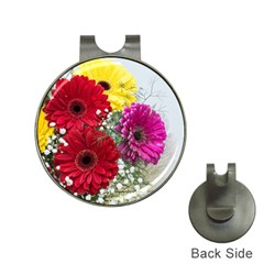 Flowers Gerbera Floral Spring Hat Clips With Golf Markers