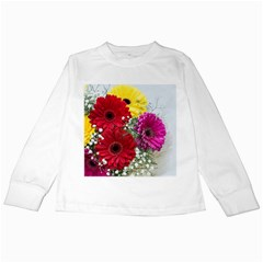 Flowers Gerbera Floral Spring Kids Long Sleeve T-Shirts