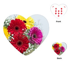 Flowers Gerbera Floral Spring Playing Cards (Heart)