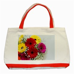 Flowers Gerbera Floral Spring Classic Tote Bag (red)