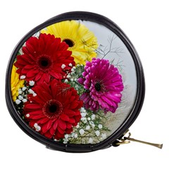 Flowers Gerbera Floral Spring Mini Makeup Bags