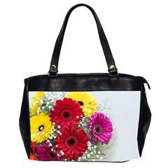 Flowers Gerbera Floral Spring Office Handbags (2 Sides)