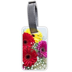 Flowers Gerbera Floral Spring Luggage Tags (one Side)