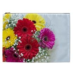 Flowers Gerbera Floral Spring Cosmetic Bag (xxl)