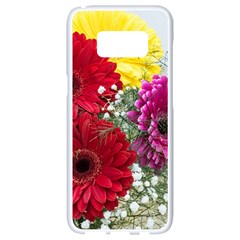 Flowers Gerbera Floral Spring Samsung Galaxy S8 White Seamless Case
