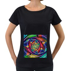 Eye of the Rainbow Women s Loose-Fit T-Shirt (Black)