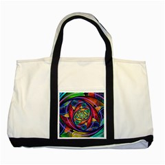 Eye of the Rainbow Two Tone Tote Bag
