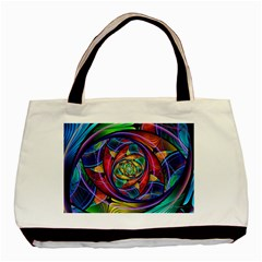 Eye of the Rainbow Basic Tote Bag (Two Sides)