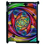 Eye of the Rainbow Apple iPad 2 Case (Black) Front