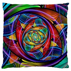 Eye of the Rainbow Standard Flano Cushion Case (Two Sides)