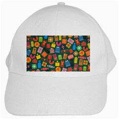Presents Gifts Background Colorful White Cap