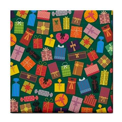 Presents Gifts Background Colorful Tile Coasters
