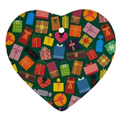 Presents Gifts Background Colorful Ornament (heart)