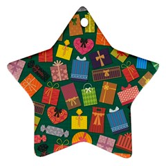 Presents Gifts Background Colorful Ornament (Star)