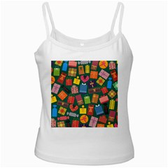 Presents Gifts Background Colorful White Spaghetti Tank