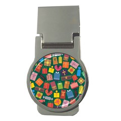 Presents Gifts Background Colorful Money Clips (round)