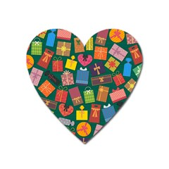 Presents Gifts Background Colorful Heart Magnet