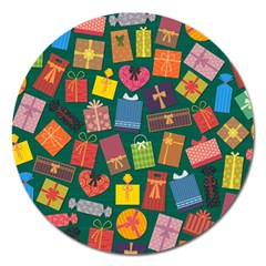 Presents Gifts Background Colorful Magnet 5  (round)