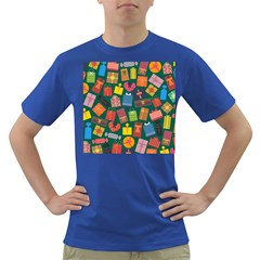Presents Gifts Background Colorful Dark T-Shirt