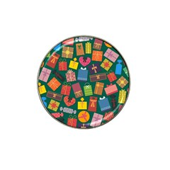 Presents Gifts Background Colorful Hat Clip Ball Marker (4 Pack)