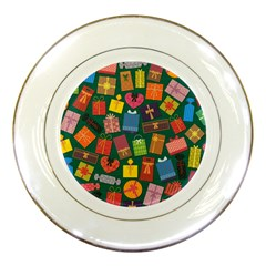 Presents Gifts Background Colorful Porcelain Plates