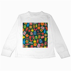 Presents Gifts Background Colorful Kids Long Sleeve T Shirts