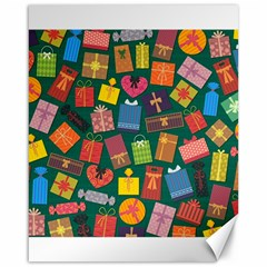 Presents Gifts Background Colorful Canvas 16  x 20