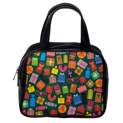Presents Gifts Background Colorful Classic Handbags (One Side)