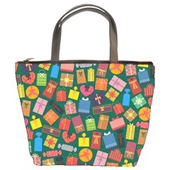 Presents Gifts Background Colorful Bucket Bags