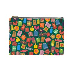 Presents Gifts Background Colorful Cosmetic Bag (Large)