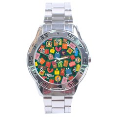 Presents Gifts Background Colorful Stainless Steel Analogue Watch