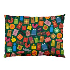 Presents Gifts Background Colorful Pillow Case (two Sides)
