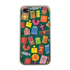 Presents Gifts Background Colorful Apple iPhone 4 Case (Clear)