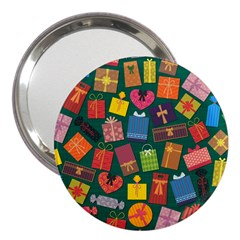 Presents Gifts Background Colorful 3  Handbag Mirrors